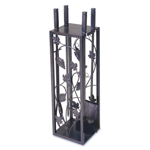 Wrought Iron 5 Piece Grapevine Fireplace Tool Set By Napa Forge