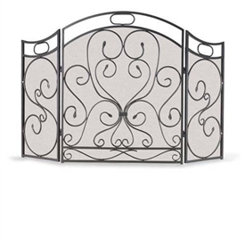 Wrought Iron 3 Panel Shakespeare S Garden Fireplace Screen