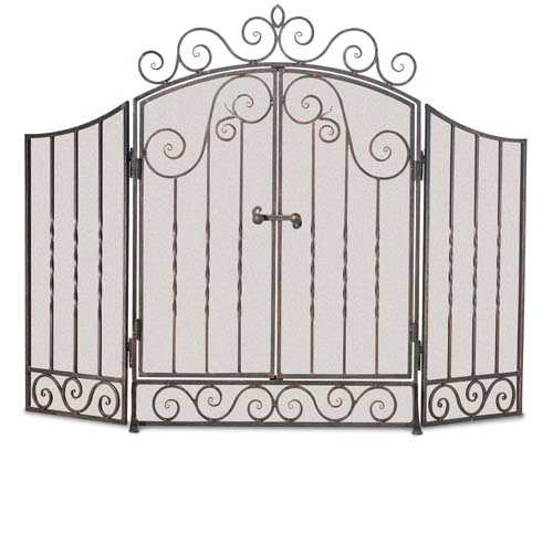 Pictured Here Is The Wrought Iron 3 Panel Vienna Fireplace