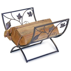 Wrought Iron Grapevine Fireplace Wood Holder By Napa Forge