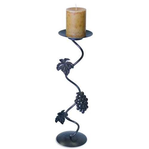 Wrought Iron Grapevine Fireplace Candle Holder By Napa Forge