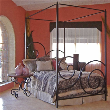 Wrought Iron Alexander Canopy Bed by Mathews & Co.