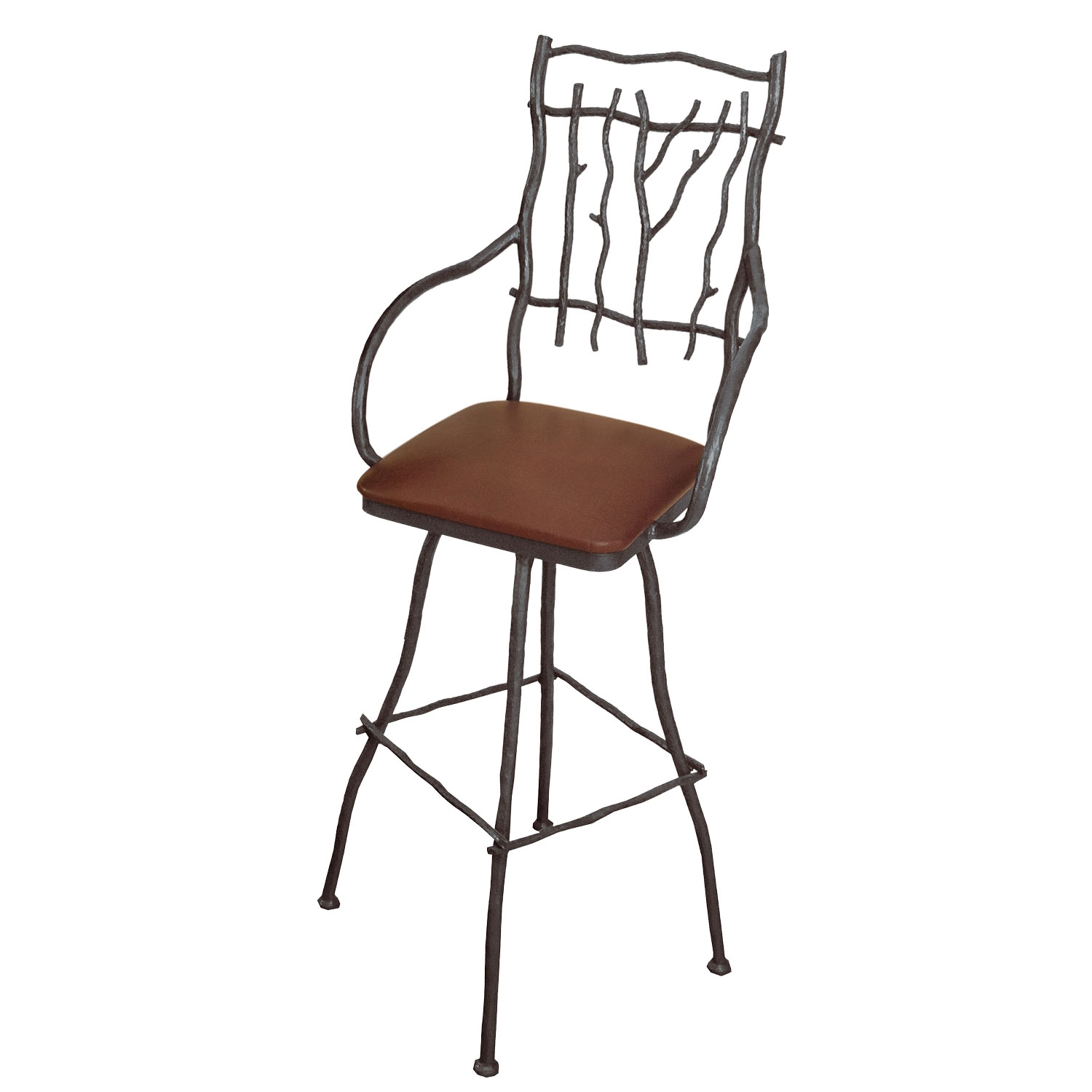 Pictured is our south fork swivel bar stool with arms for Bar stools with arms