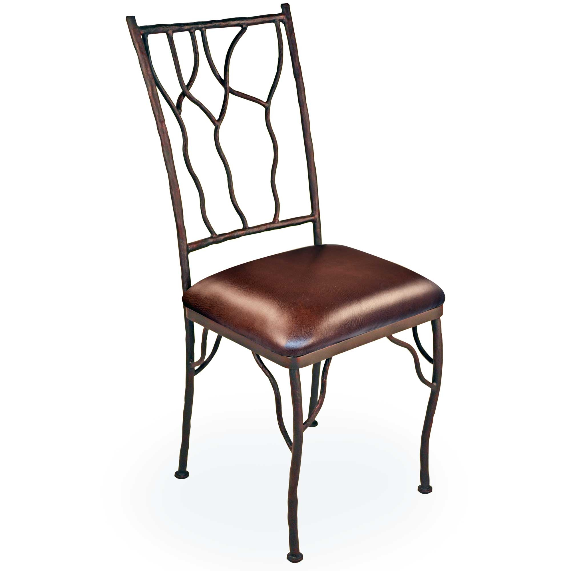 Iron Dining Chairs ~ Pictured is our rustic camelot dining side chair hand