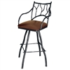 "Pictured is our South Fork Branch 30"" Swivel Bar Stool with Arms, hand-forged by artisan blacksmiths."