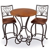 "Wrought Iron Alexander 40"" Bar Table by Mathews & Co."