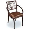 Wrought Iron Alexander Arm Chair by Mathews & Co.