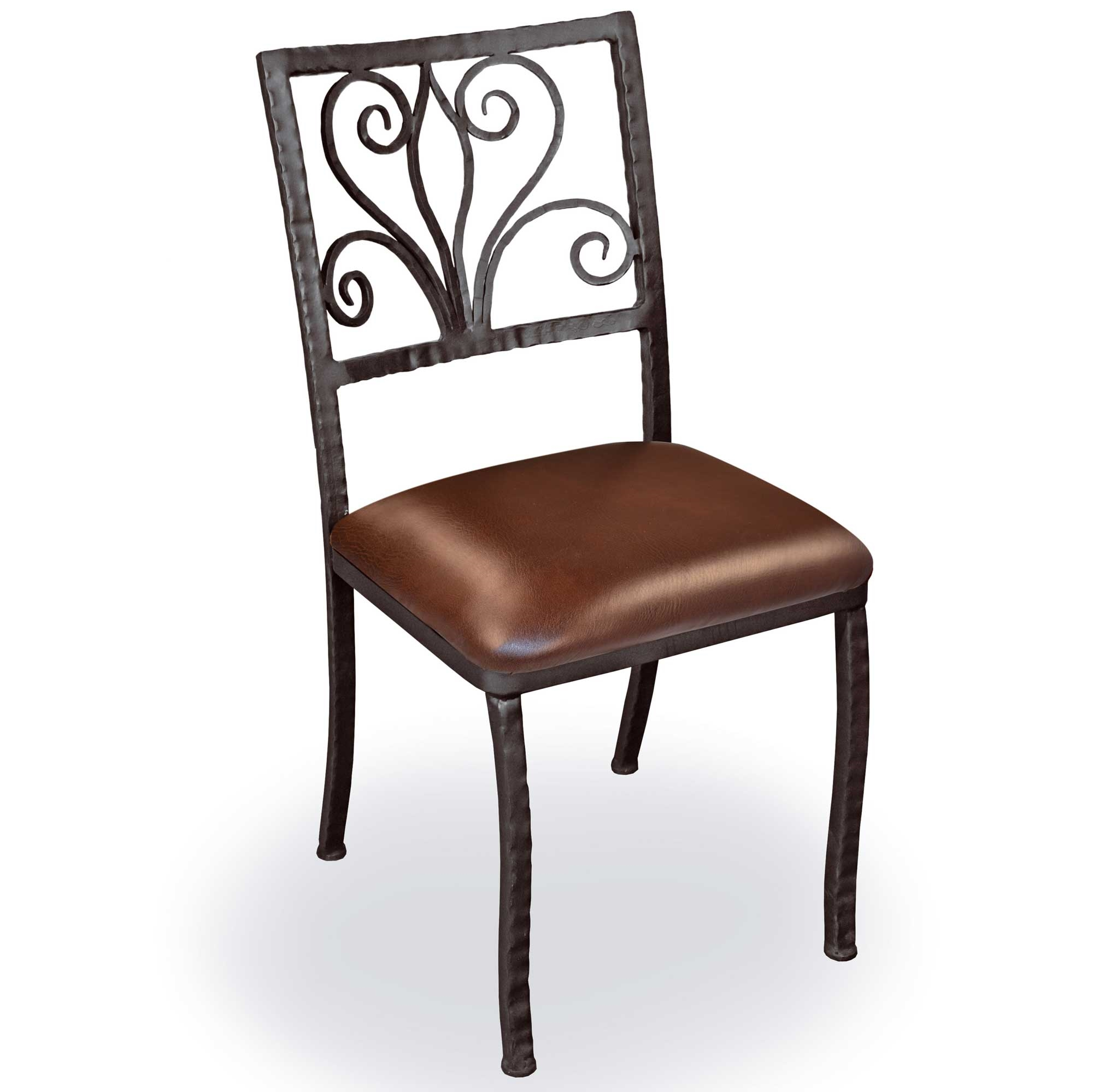 Iron Dining Chairs ~ Pictured is our alexander dining side chair hand forged