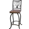 "Wrought Iron Alexander 25"" Counter Stool by Mathews & Co."