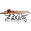 Wrought Iron Alexander Rectangle Dining Table by Mathews & Co.