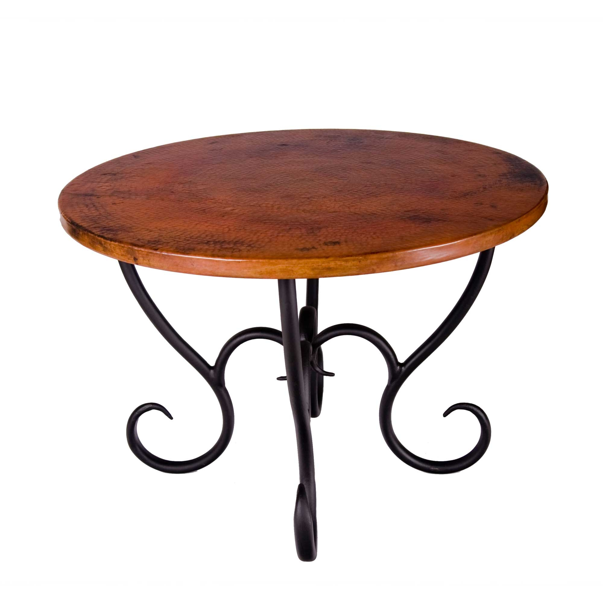 Wrought Iron Milan Dining Table Round By Mathews Co