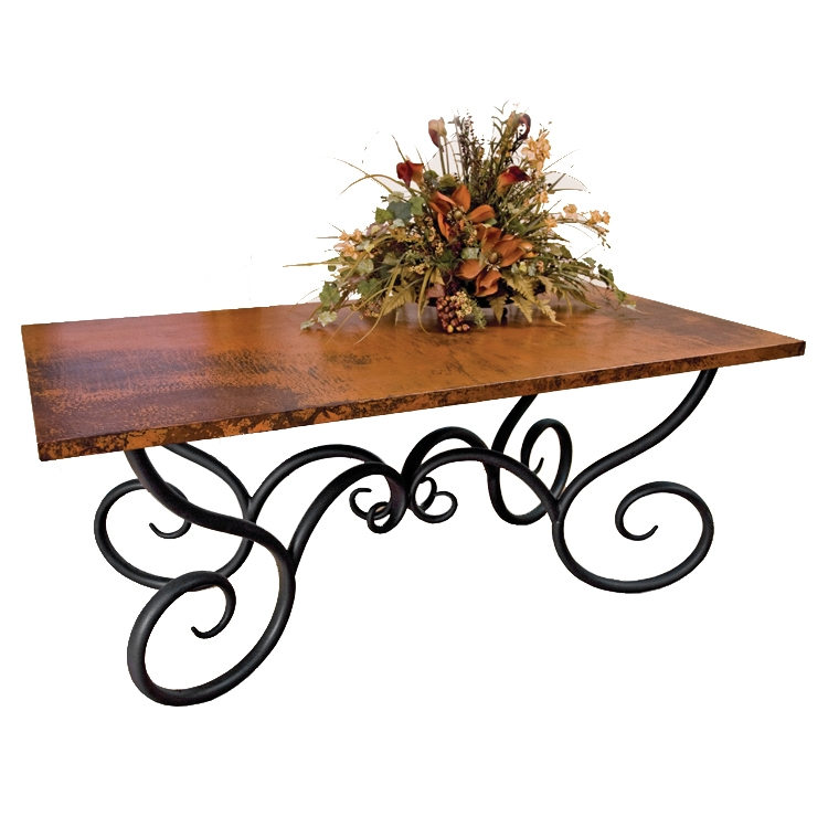 Dining Table: Wrought Iron Outdoor Dining Table