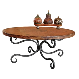 Wrought Iron Alexander Coffee Table by Mathews & Co.