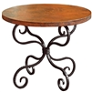 Wrought Iron Alexander End Table by Mathews & Co.