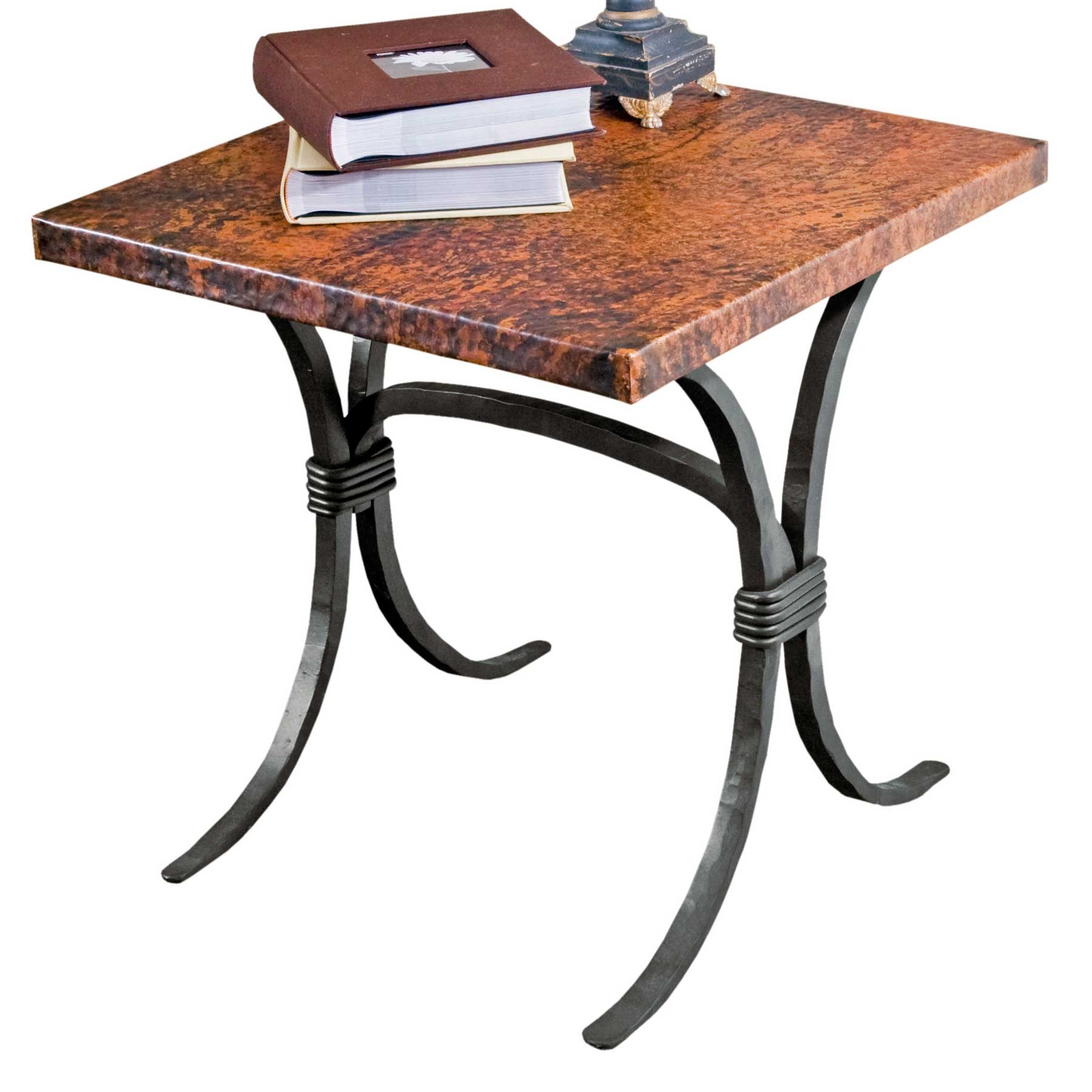 Pictured here is the salisbury end table with 24 square for Wrought iron side table