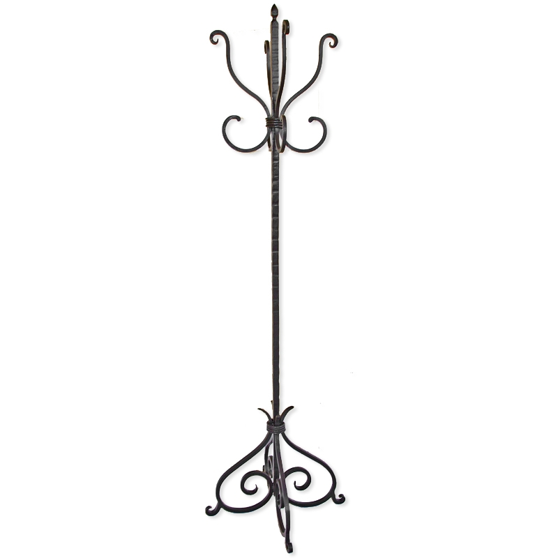 Wrought Iron Alexander Standing Coat Rack By Mathews Amp Co