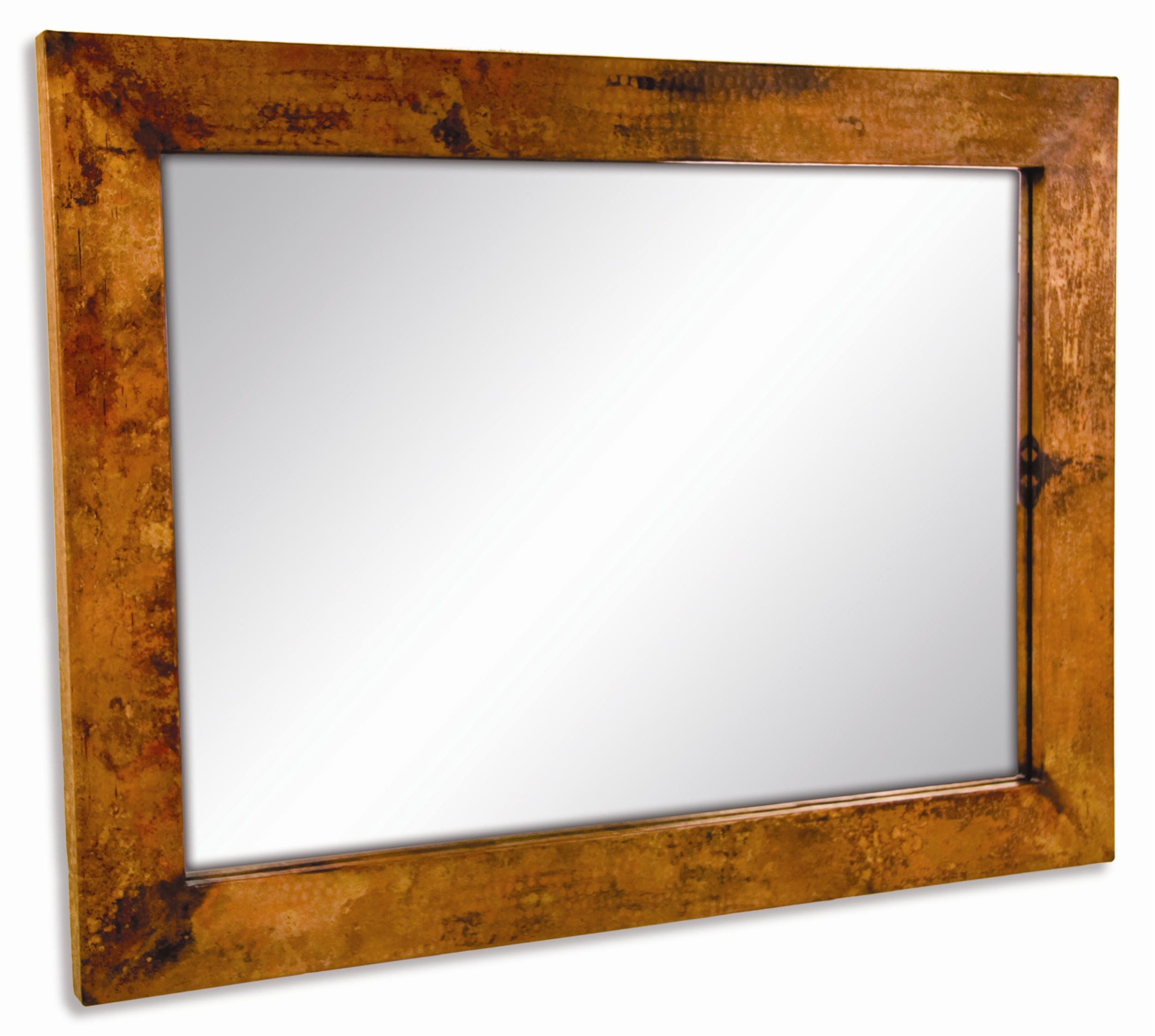 Pictured here is the large rectangle copper mirror from for Rectangle mirror
