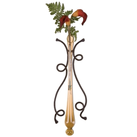 Wrought Iron Vine Wall Sconce, Large by Mathews & Co.