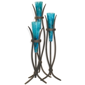 Wrought Iron Milan Floor Vases -  Set of 3 by Mathews & Co.