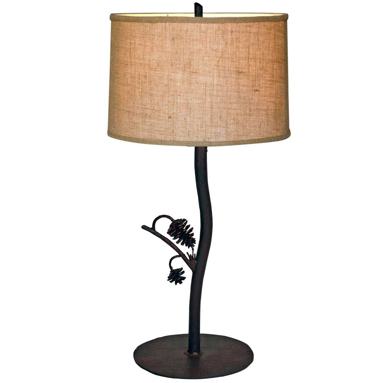 style wrought iron piney woods table lamp hand made by mathews co. Black Bedroom Furniture Sets. Home Design Ideas