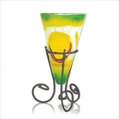 Wrought Iron Lemon Tree Somerton Vase with lron Base by Mathews & Co.