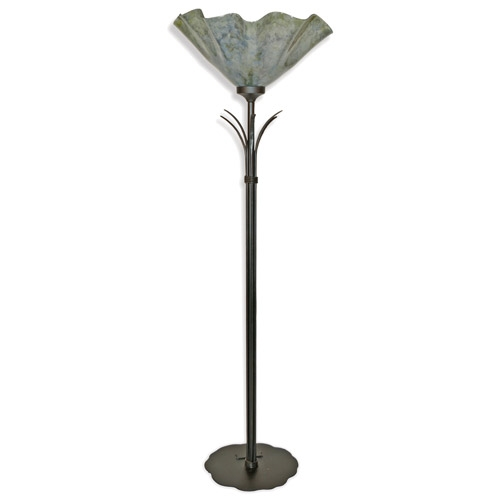 torchiere floor lamp with glass shade hand made by mathews co. Black Bedroom Furniture Sets. Home Design Ideas