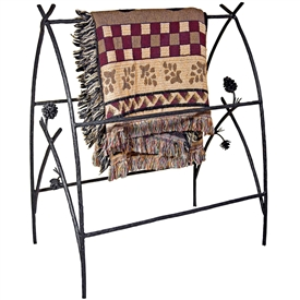 Wrought Iron Piney Woods Blanket Stand by Mathews & Co.