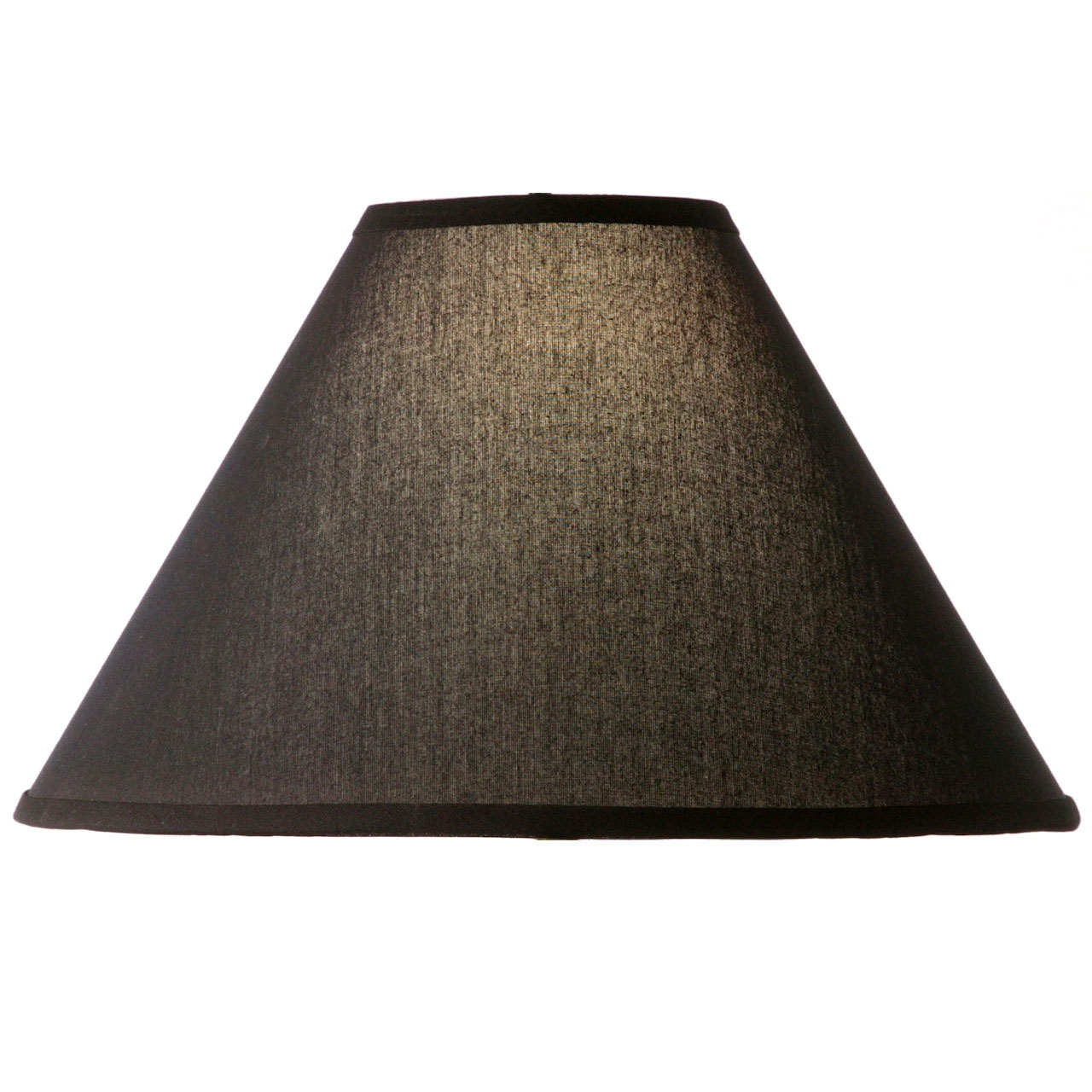 Natural Black Linen Floor Lamp Shade 18