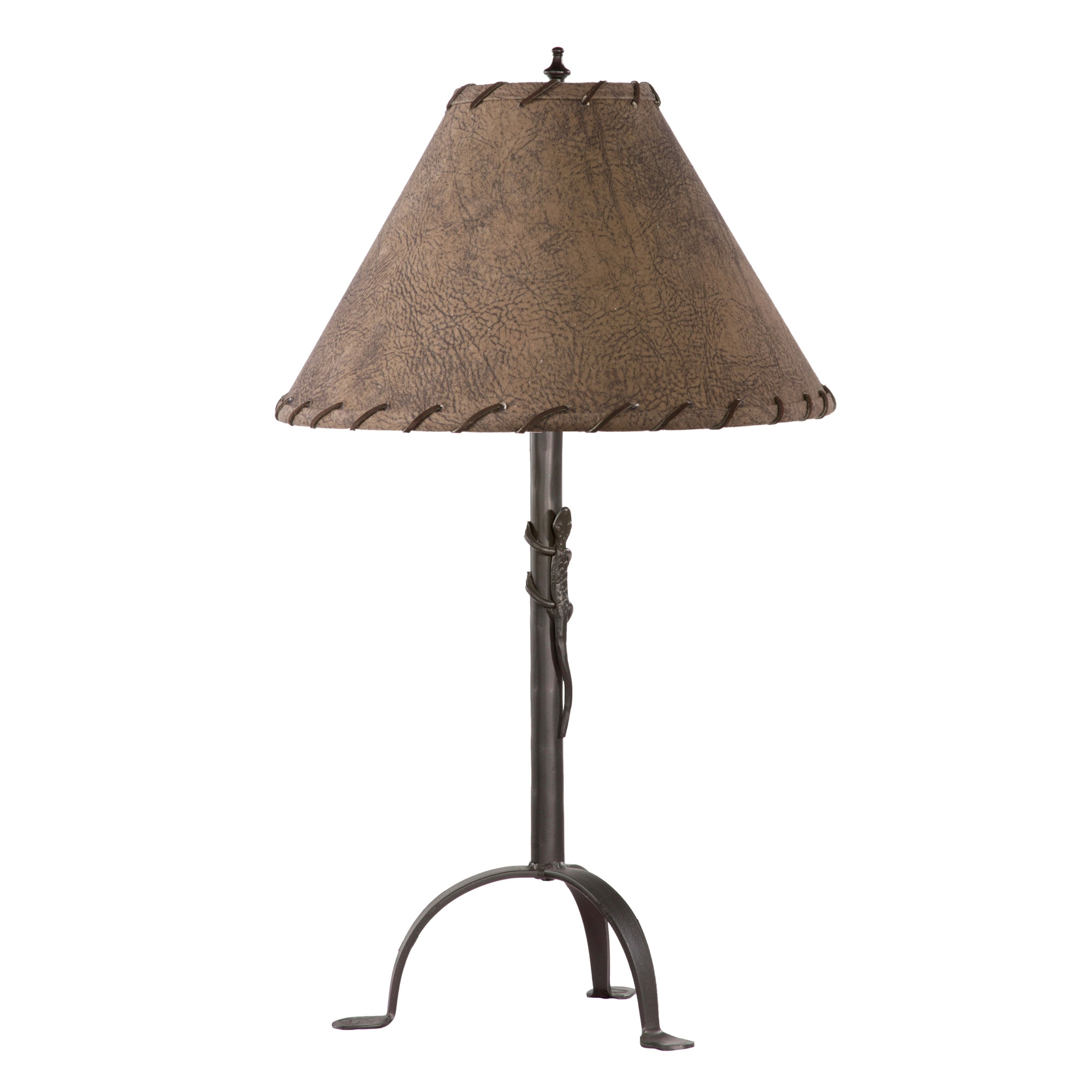 Wrought Iron Gecko Table Lamp By Stone County Ironworks