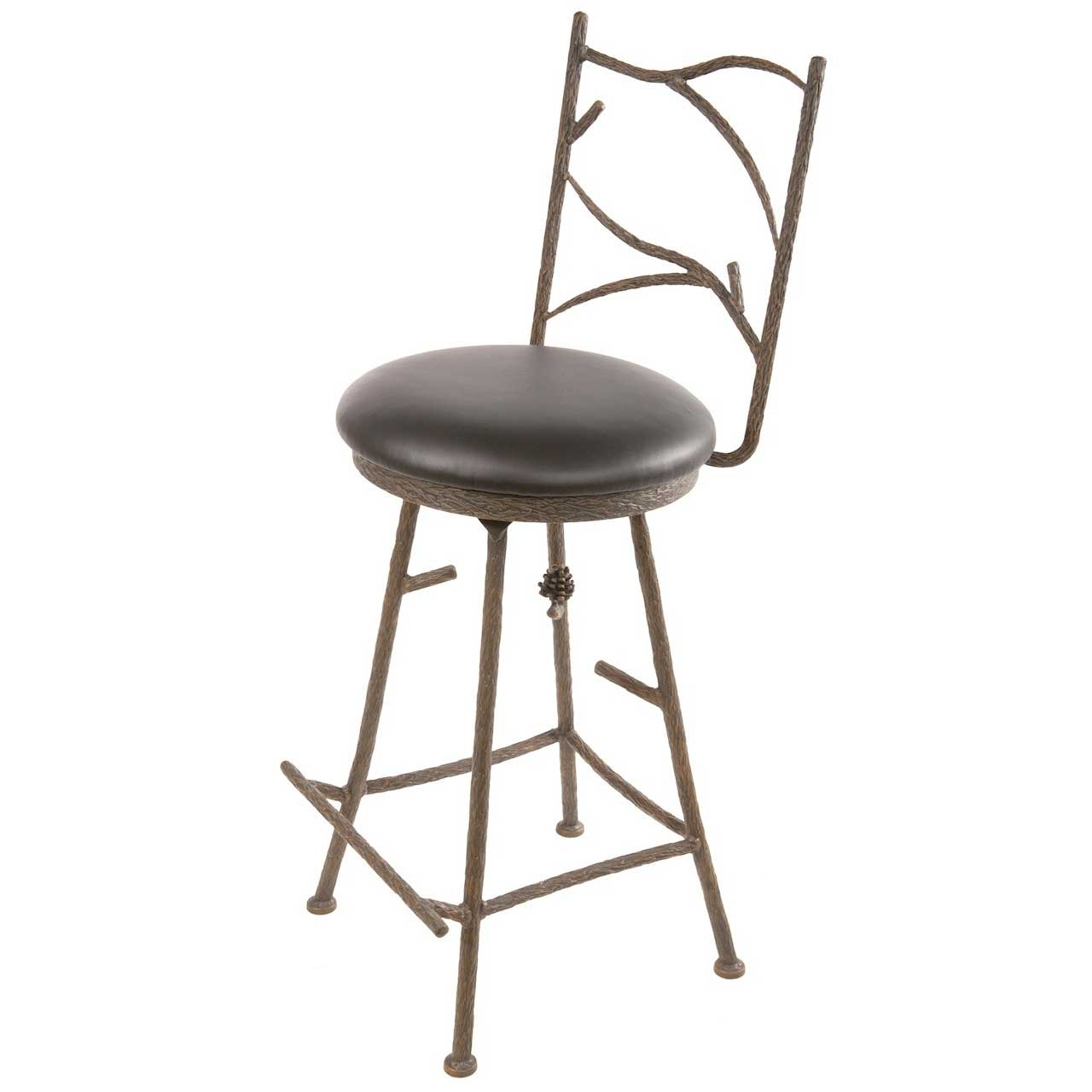 Wrought Iron Bar Stool Pine Barstool 25 Quot Wrought