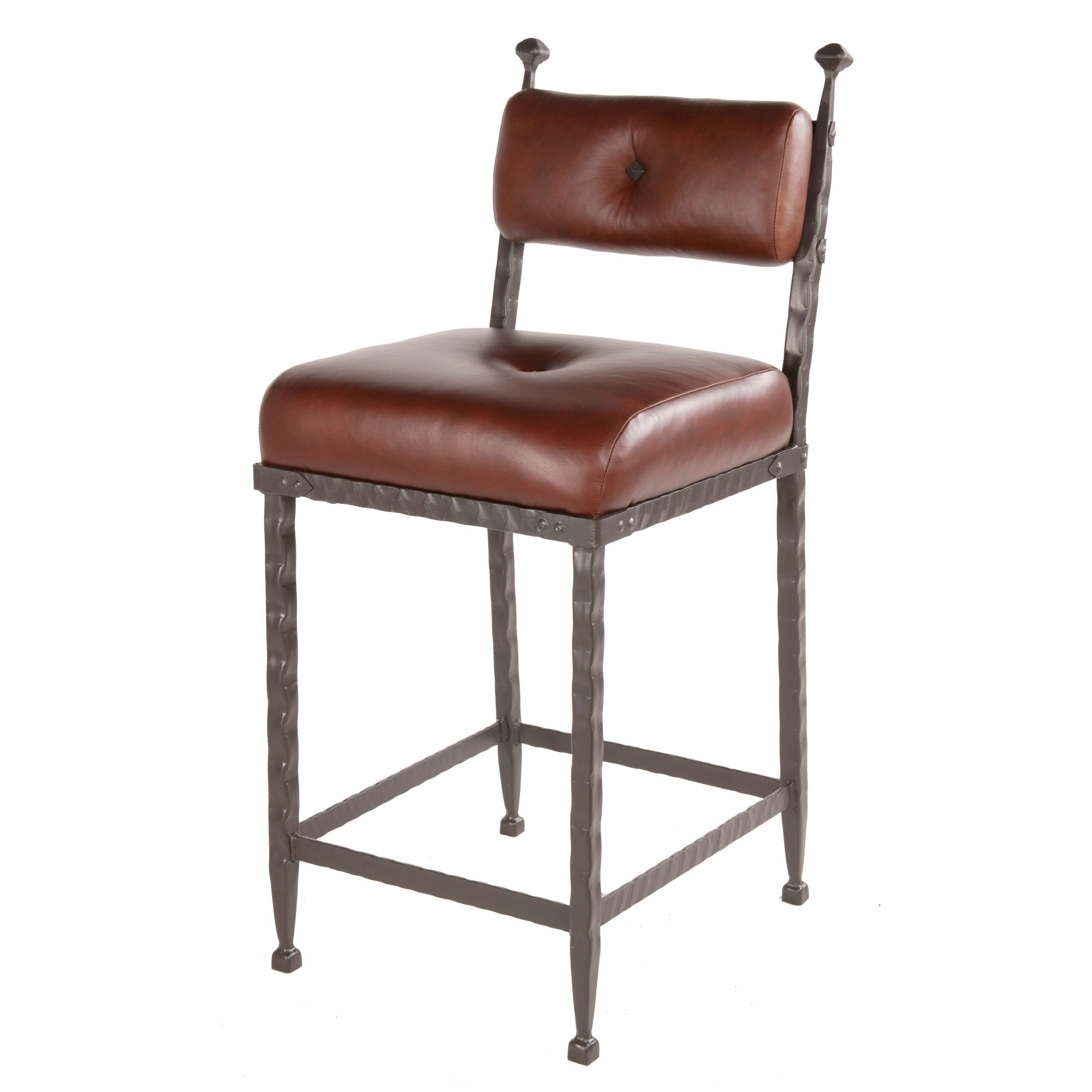 Forest hill wrought iron counter stool in seat height