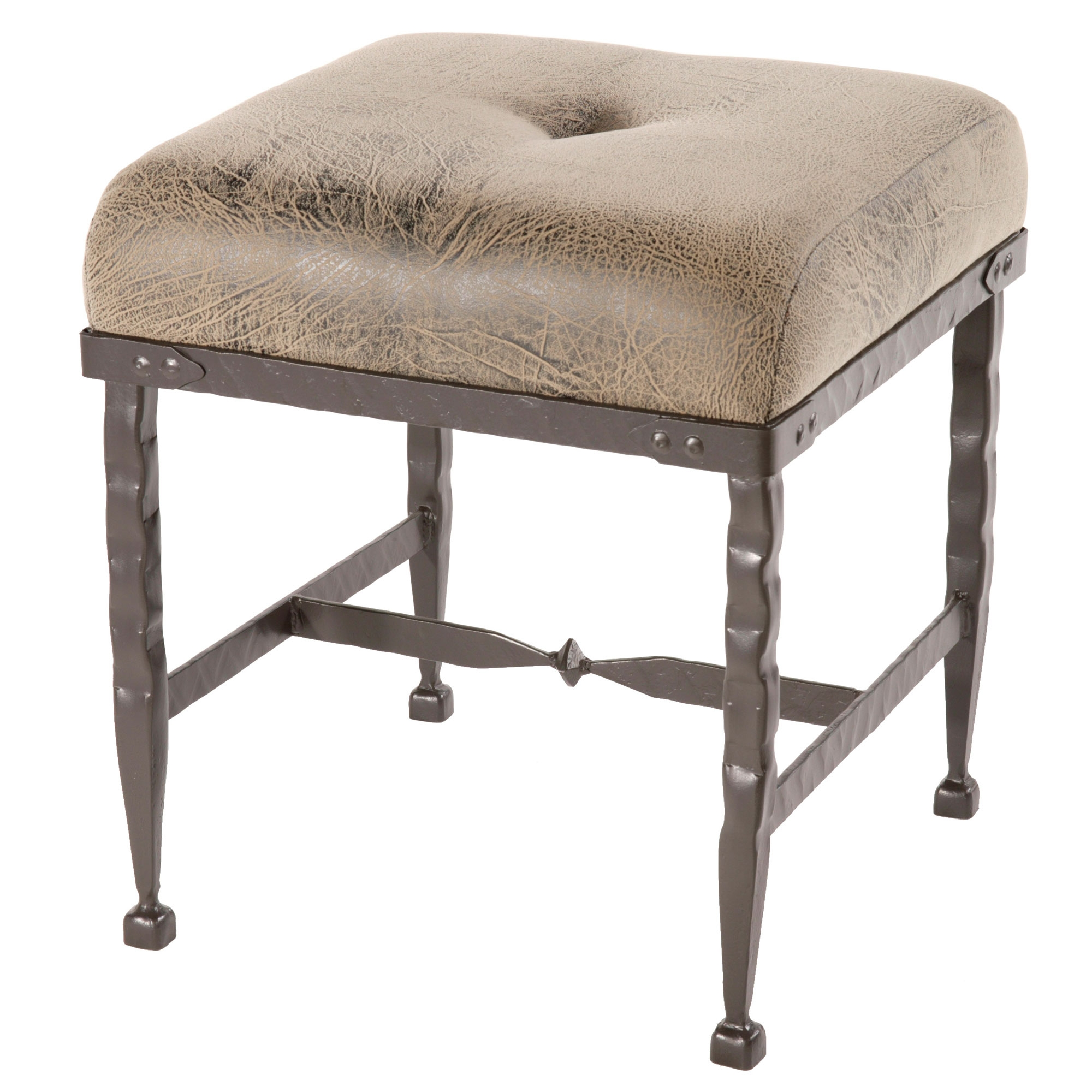 Wrought Iron Forest Hill Collection Foot Stool