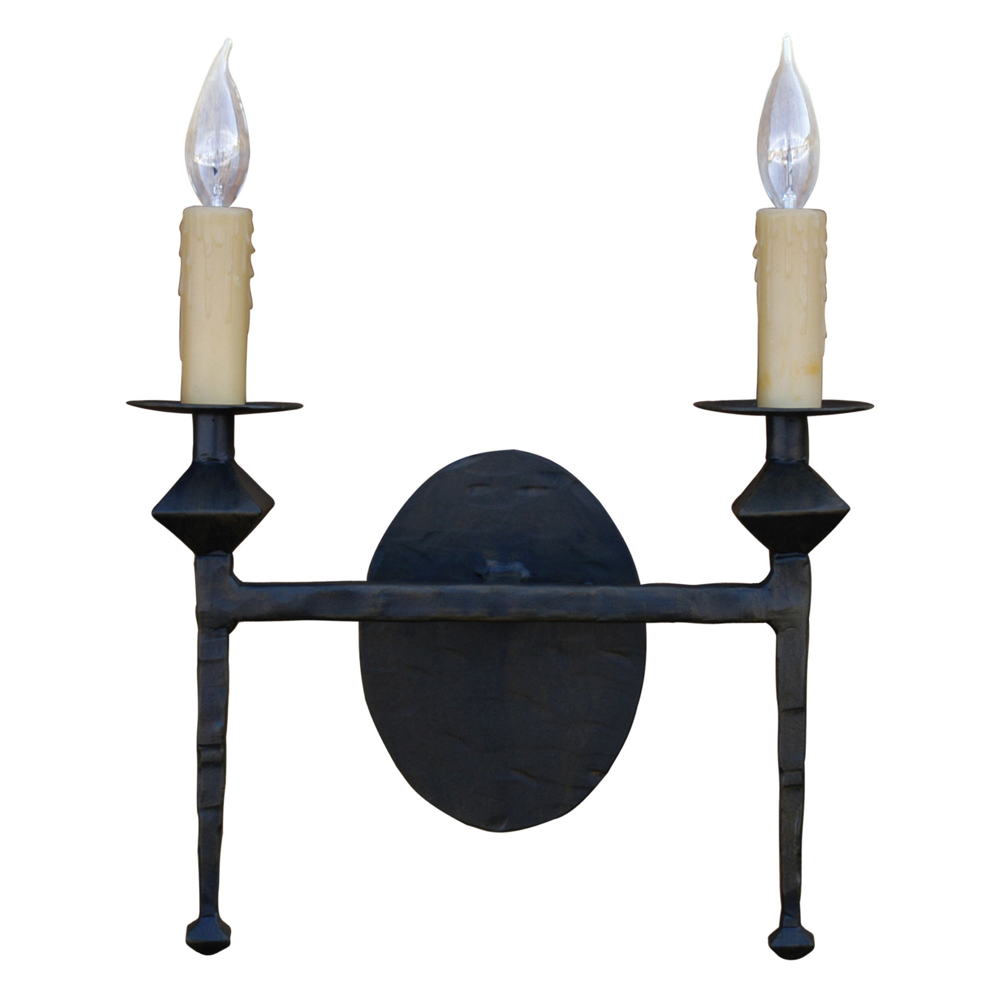 Wall Sconce Candle Covers : Forest Hill Wall Sconce Double w/ Drip Candle Cover