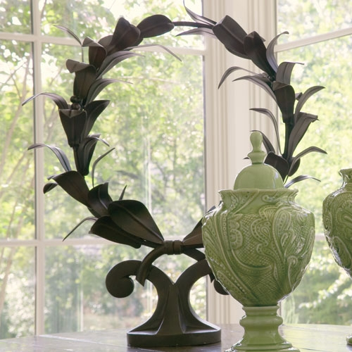 Wrought Iron Laurel Wreath Sculpture By Global Views