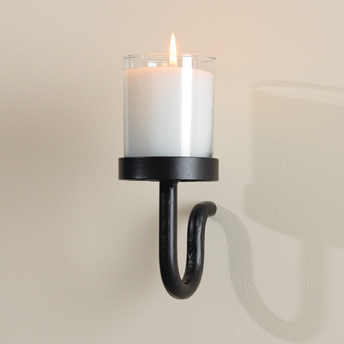 Wall Votive Sconces: Wrought Iron Curl Votive Lite Wall Sconce By Global Views