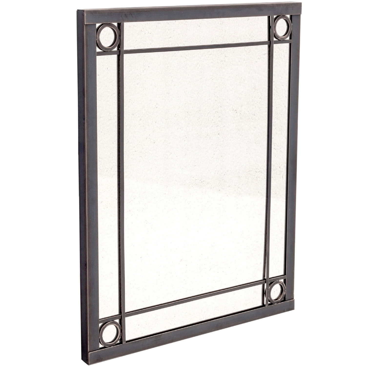 Oxford small mirror by charleston forge for Wrought iron mirror
