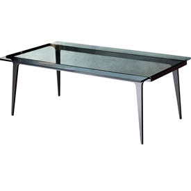 Madison Glass Top Rectangular Cocktail Table Charleston