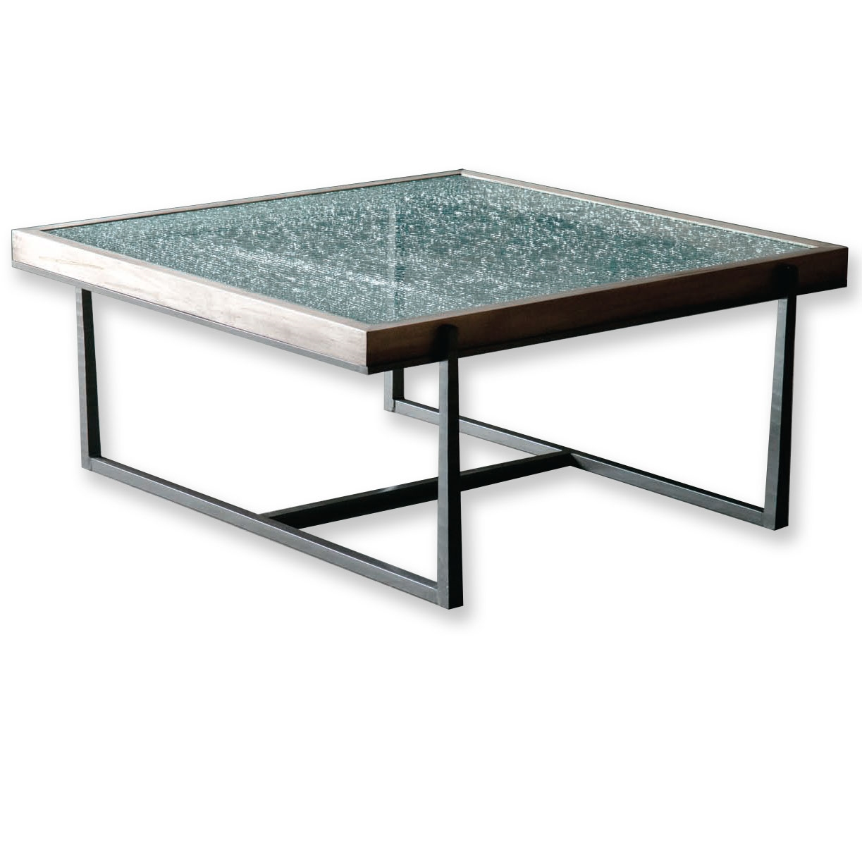 Pictured is the cooper square cocktail table which for Square cocktail table