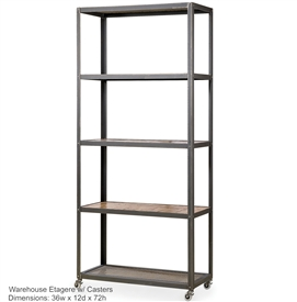 Wrought Iron Warehouse Etagere By Charleston Forge