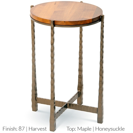 Nash 15 Quot Round Drink Table Hand Forged Iron Base Amp Top