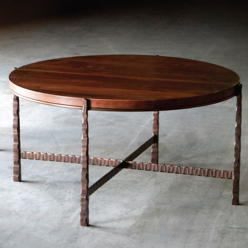 Pictured Is The Nash 42 In Round Cocktail Table Which Measures 44 5 In Dia By High