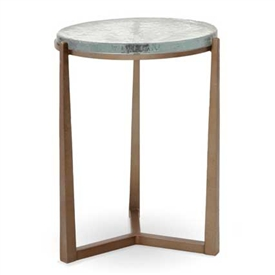 Pictured is the Cooper Drink Table hand crafted by the artisans of Charleston Forge, with a variety of fine finishes to choose from.