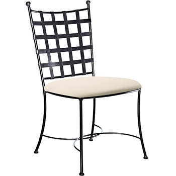 Etrusche Wrought Iron Side Chair By Charleston Forge