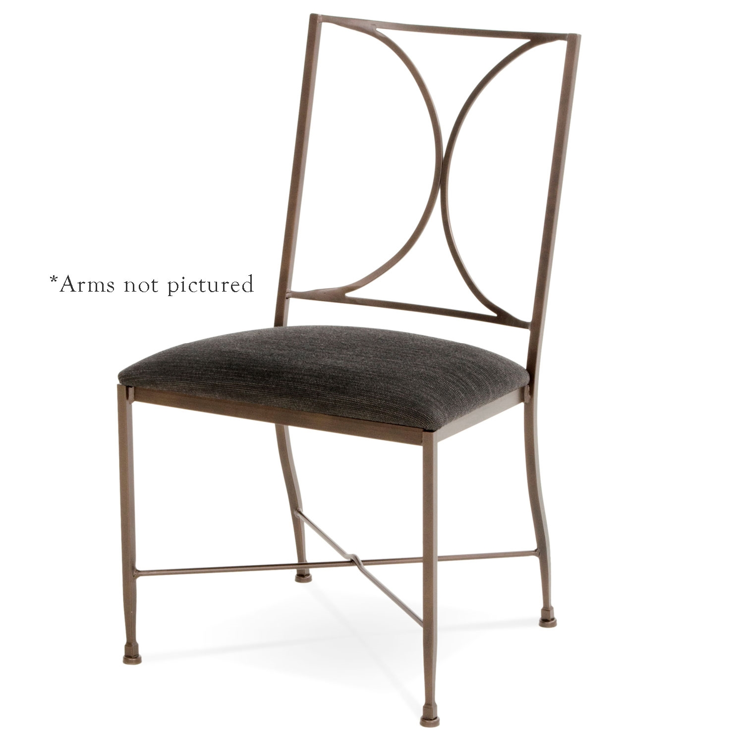 Iron Dining Chairs ~ Pictured here is the doughton wrought iron dining chair