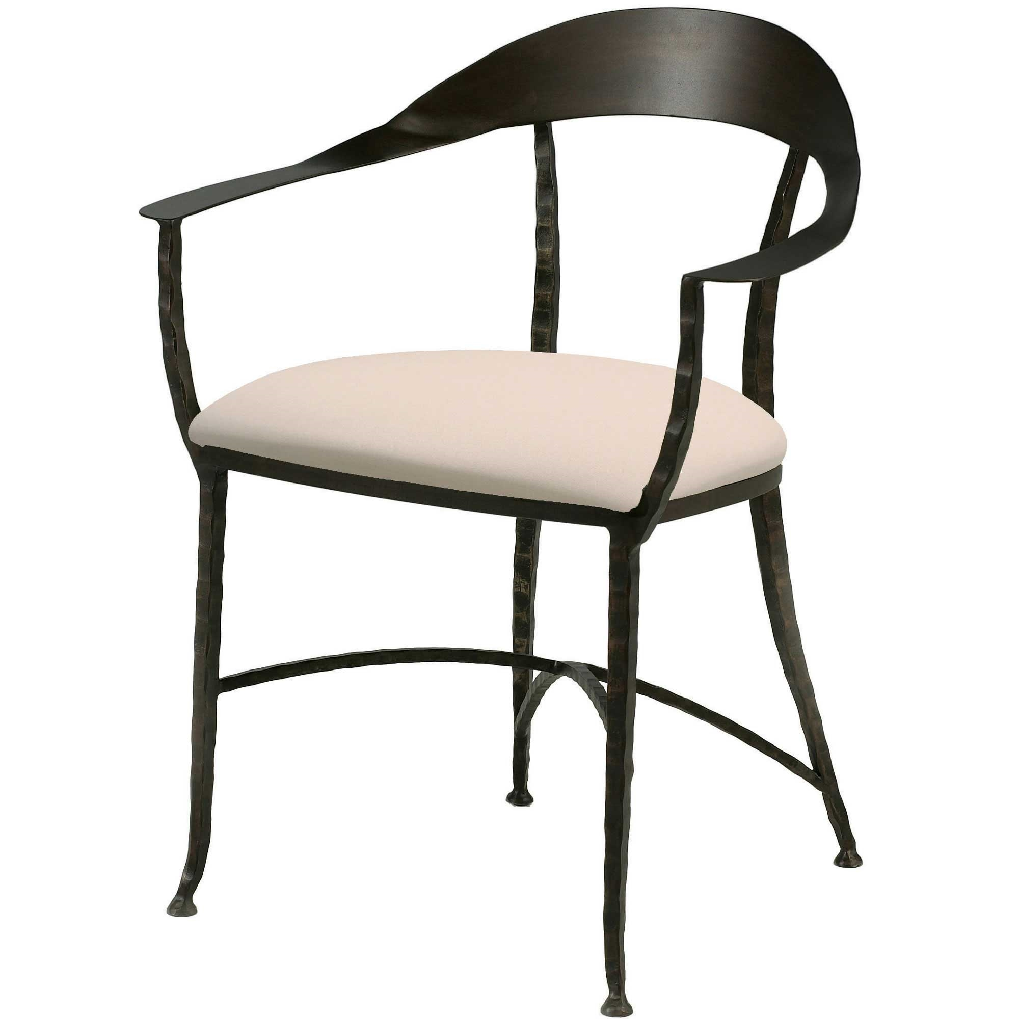 Iron Dining Chairs ~ Hudson wrap dining chair charleston forge