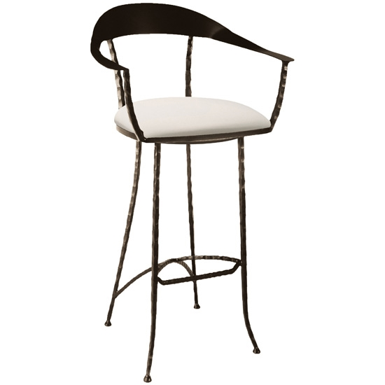 Pictured Here Is The Hudson Wrap Swivel Counter Stool With