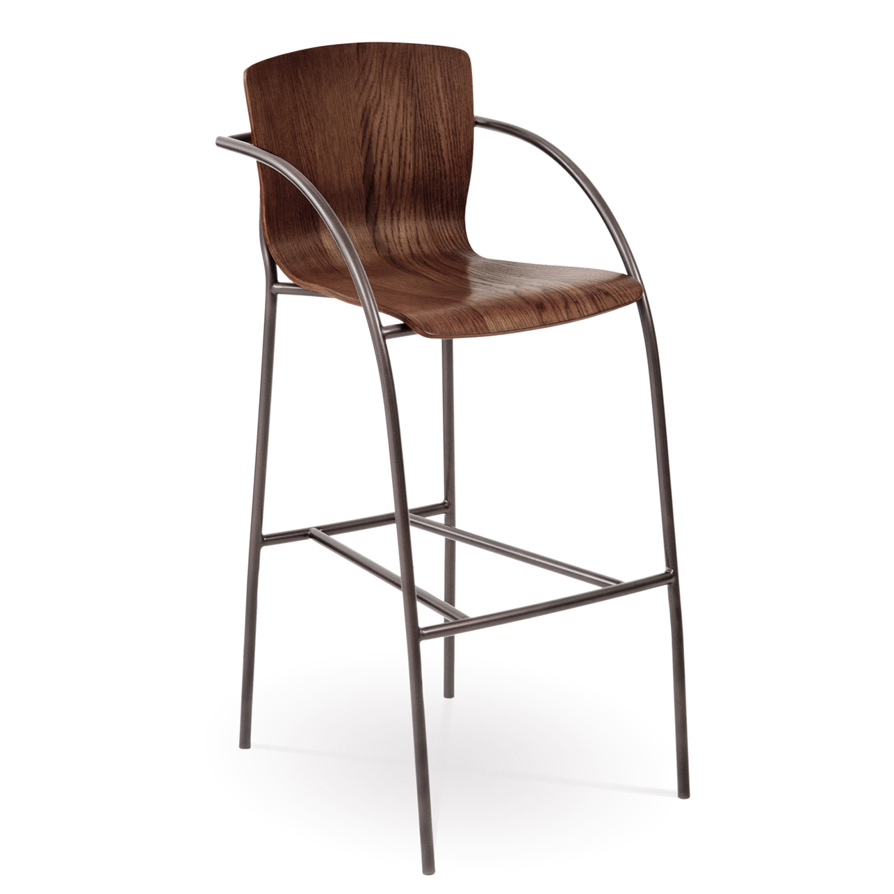 Pictured here is the merritt bar stool with arms quality hand forged construction with various - Pub stools with arms ...