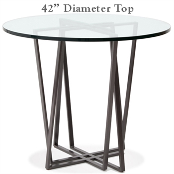 Forrest Bar Height Table with 42in. Diameter Top By Charleston Forge