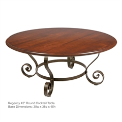 "Regency 42"" Round Cocktail Table"