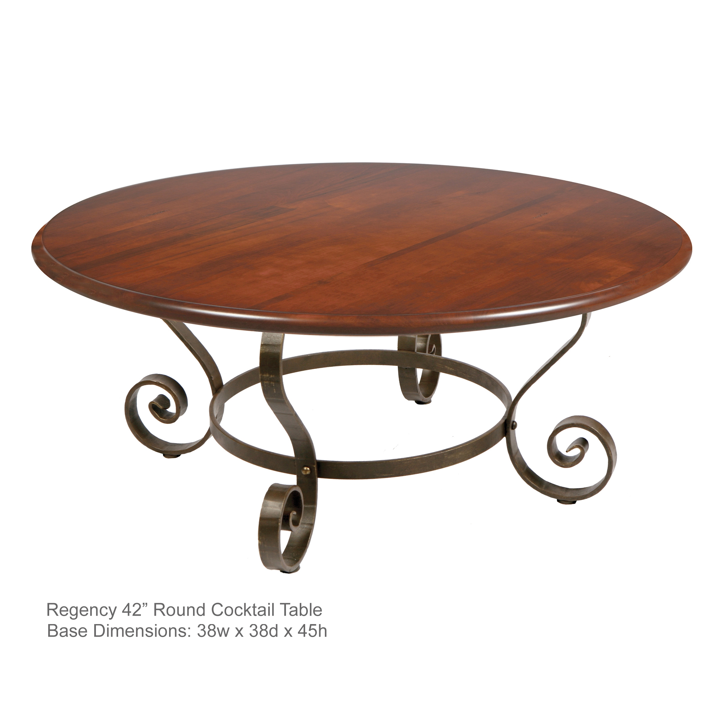 Regency 42 Round Cocktail Table